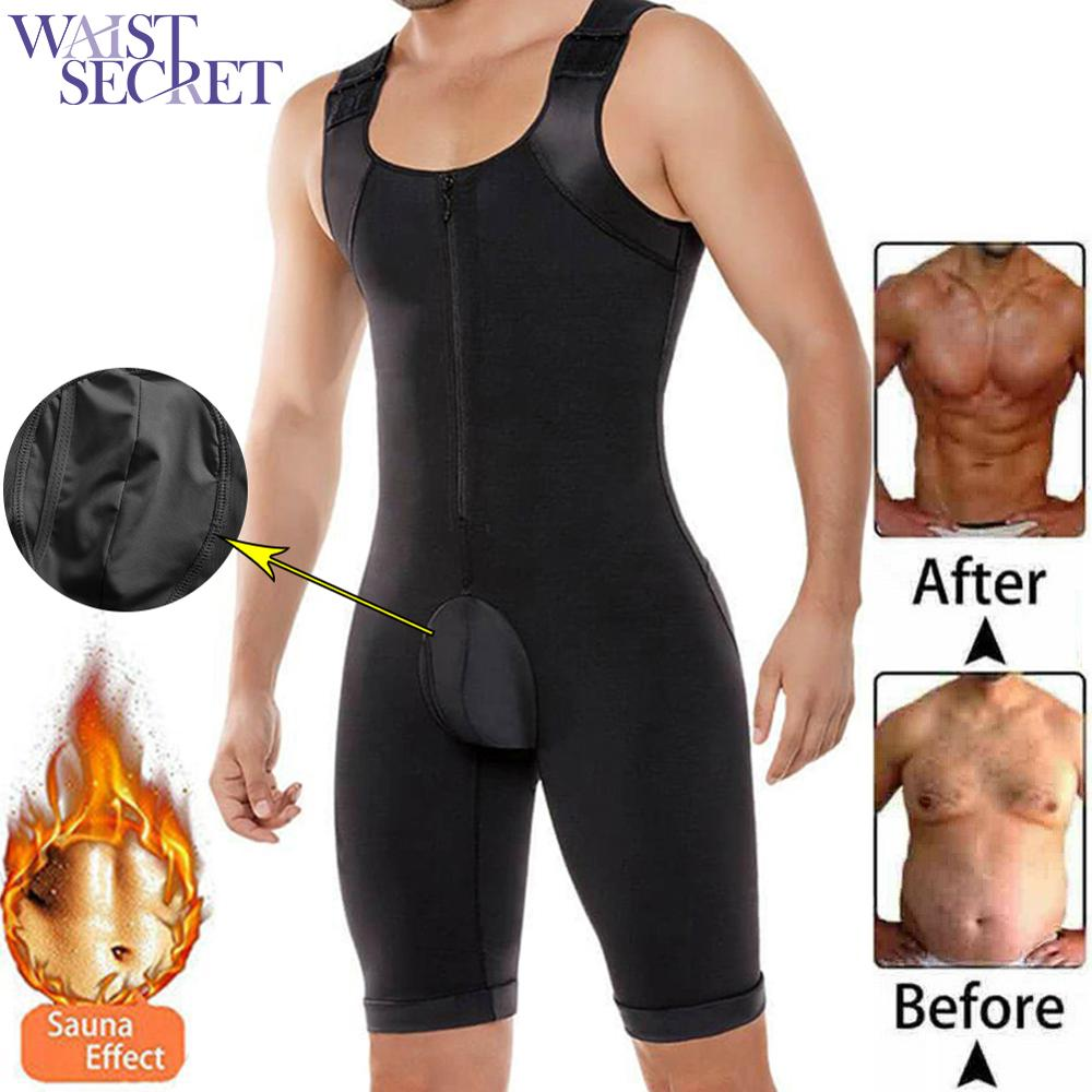 WAIST SECRET Men Slimming Body Shaper Tummy Shaper Vest Functional Underwear Corset Waist Cincher Men Bodysuit Lage Size 6XL