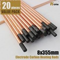 8x355mm Electrode Carbon Heating Rods Pack of 20(R8-20)