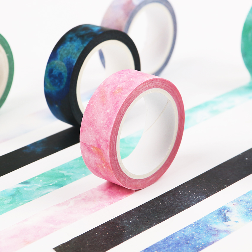 1PC 1.5cmX8m The Fantastic Dream Color Decorative Washi Tape DIY Scrapbooking Masking Craft Tape School Office Supply