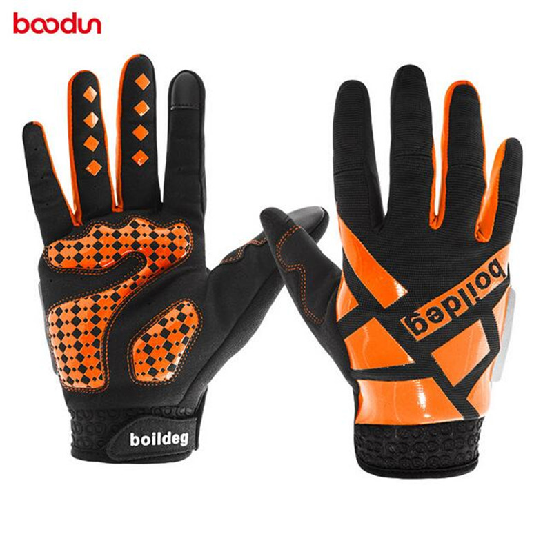 Boodun Cycling Gloves Full Finger Bike Bicycle Racing Gloves Touch Screen Breathable Non Slip Outdoor Sports Gloves Accessories