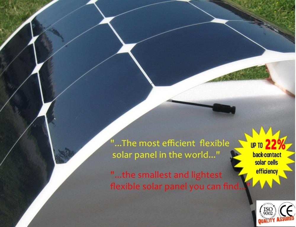 Prix pour Flexible panneau solaire 100 W 18 V pour 12 V système solaire; semi flexible panneau solaire 12 V batterie chargeur