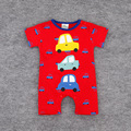 2016 summer short-sleeved cartoon Cars Romper climbing clothes baby clothes baby Siamese crocodile print full
