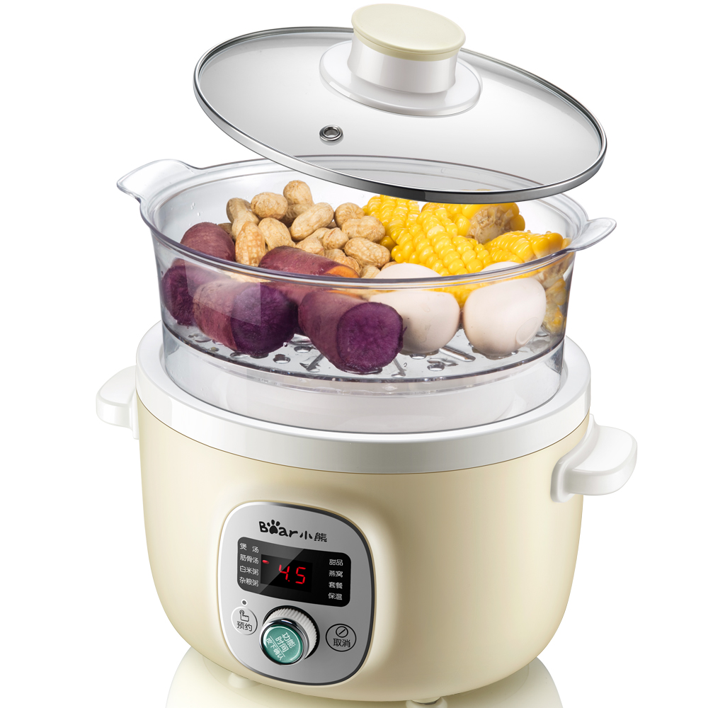 Automatic Household 220V Electric Stewing Pot Multi Cooker EU/AU/UK Baby Porridge Cooker High Quality Ceramic Pot Kitchen Tool 220v household electric slow stewing pot machine baby porridge food maker automatic ceramic inner stewing cooker eu au uk