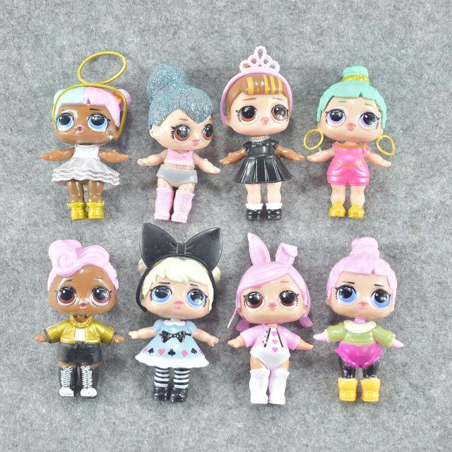 8pcs baby LoL Unpacking High quality Dolls 10CM Lol Dolls