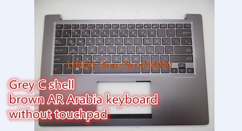 Clavier d'ordinateur portable pour ASUS U38 U38D U38DT gris C Shell IT/US UI/RU/WB/JP/brésil/italie/nordique/turquie/Taiwan clavier