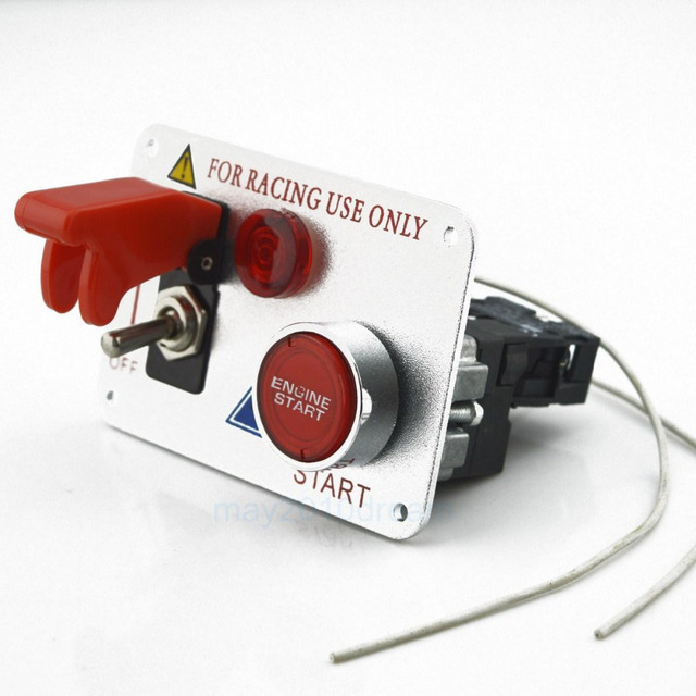 Ignition Switch Panel, 12 V 30A Auto Motor Starter Knopf Racing ...