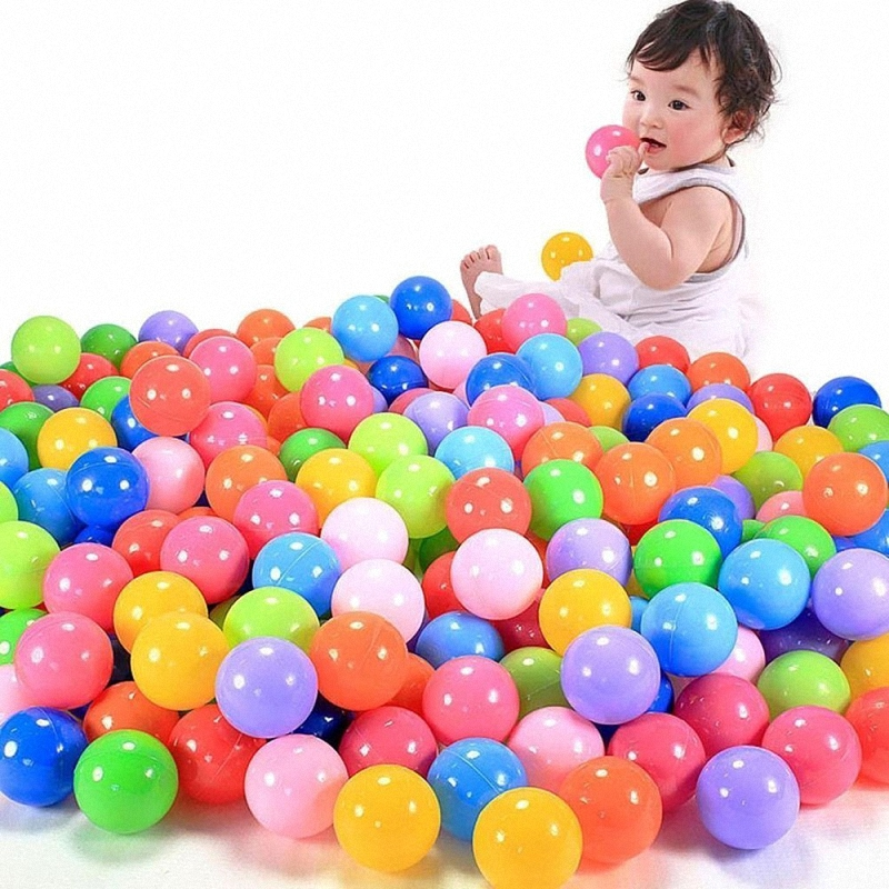 100Pcs/Set Eco-Friendly Colorful Baby Play Balls Soft Plastic Ocean Ball Pits Baby Funny Swim Pool Toy Water Ball Toys Dia 5.5cm