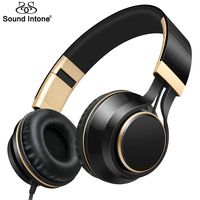 Sound Intone I58 Fashion Strong Bass Headset With Microphone Stereo Headsets With Volume Control For Smartphones