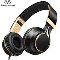 Sound intone i58 plegable wired auriculares para teléfonos auriculares con graves potentes aux cable para auriculares con micrófono