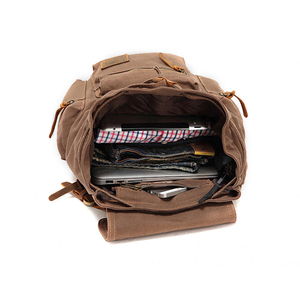 Image 5 - AUGUR New fashion mens backpack vintage canvas backpack school bag mens travel bags large capacity travel laptop backpack bag