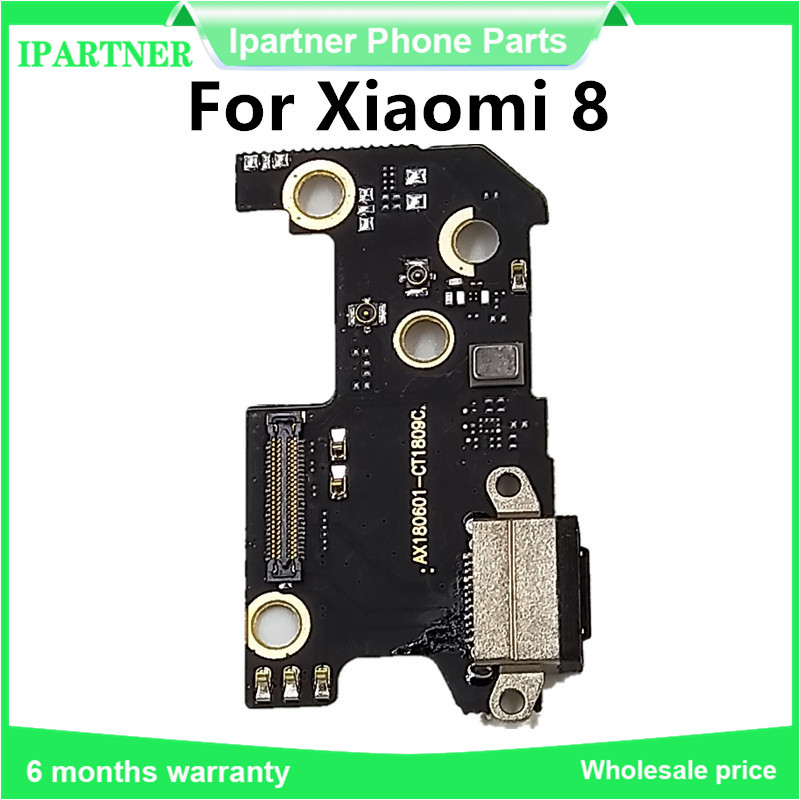 For Xiaomi Mi 8 USB Dock Connector Charger Charging Port Flex Cable Mic Microphone Module for Xiaomi 8   100% Tested(China)