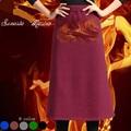 2016 Invierno de la Cachemira del estilo mujeres calientes faldas 6 color de alta calidad de mujer de marca faldas ropa