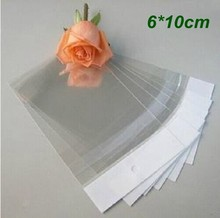 6cm*10cm Clear Self Adhesive Seal Plastic Bag OPP Poly Retail Packaging With Hang Hole by DHL free shipping