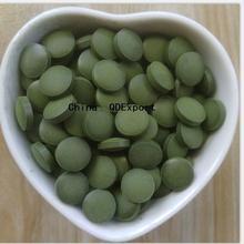 Настоящий органический Сертифицированный пищевой хлорелла зеленые водоросли таблетки природы хлорофита Vulgaris No pollution500г 2000 шт