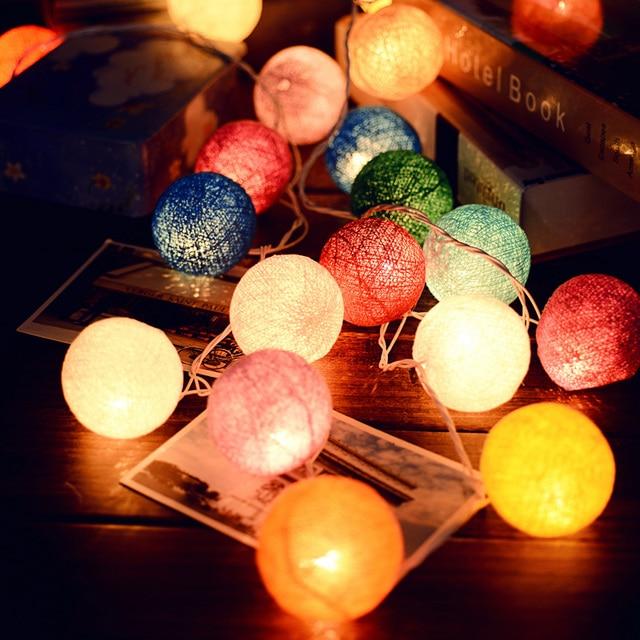 2 м Красочные Childre Дети Детская Комната Светодиодное Освещение Игрушка Палатка Свет 20 Мяч Фестиваль Свадьба Украшение Освещения Drop доставка