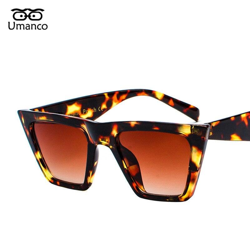 1b8cd9bf94 Gafas de sol de moda Umanco con montura cuadrada grande de gran tamaño con  ojo de gato para mujer, gafas de plástico para hombre, gafas transparentes  con ...