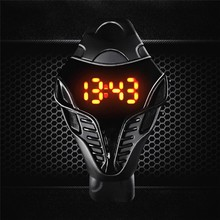 2016 New LED watch unique design silicone hand ring wristwatch For boy girl student Fashion digital watch relogio masculino