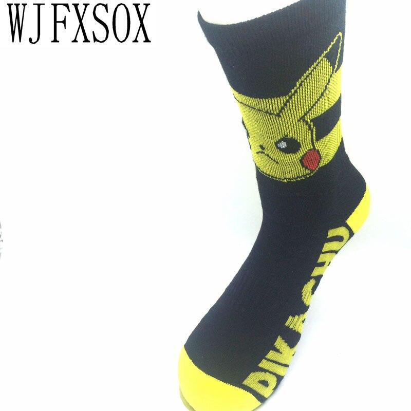 c7d278809 WJFXSOX 1 pares lote 2017 hot Desenhos Animados meias das mulheres Pokemon  Pikachu curto costura terry meias grossas meias de algodão Meias das  Mulheres Sox