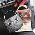 Women Saddle handbag tote top-handle bags sequins small bling sparkle messenger bag