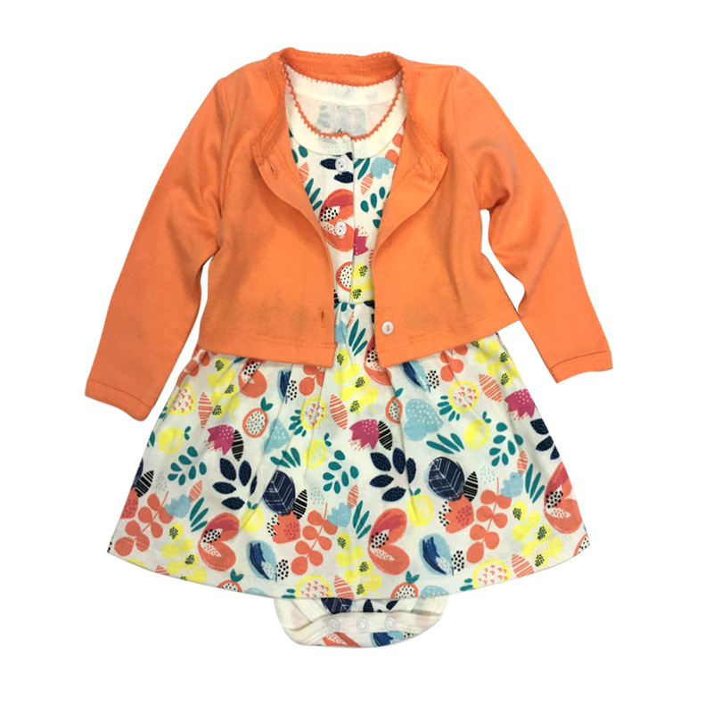 2pcs Set Baby Dresses Cotton Long Sleeves Shirt Tops Short Sleeve Flower Romper Baby Girls Clothes Infant Girl Clothing Sets mother nest 3sets lot wholesale autumn toddle girl long sleeve baby clothing one piece boys baby pajamas infant clothes rompers