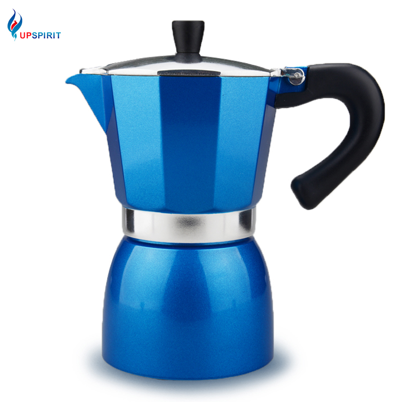 Upspirit 240ml Multi Colors Aluminum Coffee Moka Pot Electrical Espresso Coffee Maker Latte Cup Portable Home Office Coffee Pot