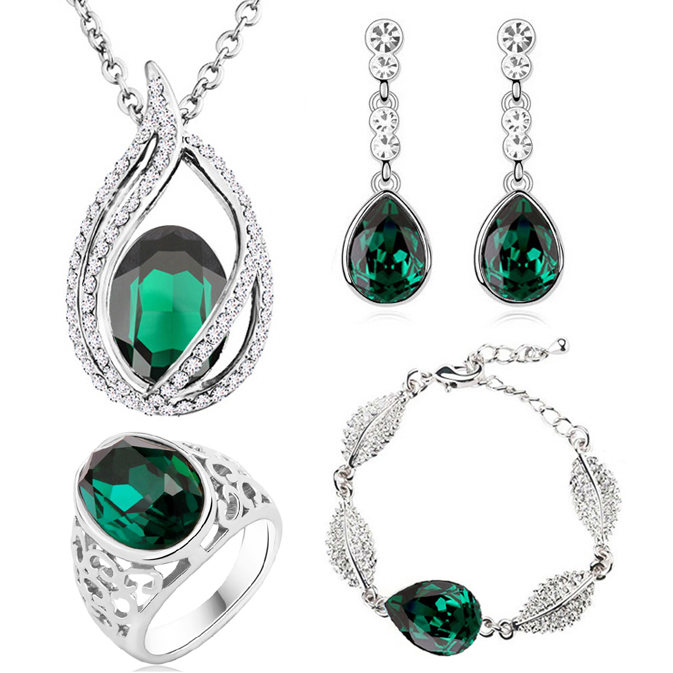 austrian Crystal tear drop flame pendant fashion jewelry sets - Fashion Jewelry - Photo 6