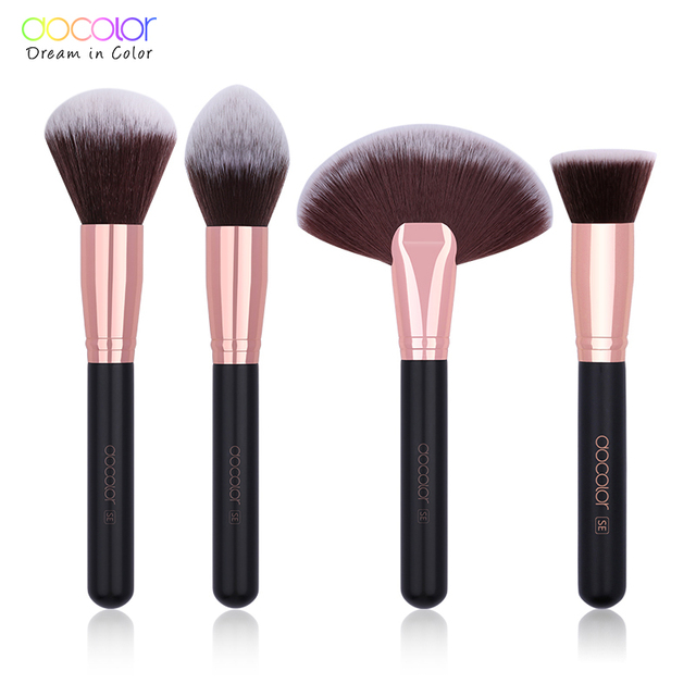 Docolor 1PC Makeup Brush Foundation Powder Brush Face Blusher Bronzer Highlight Brush Cosmetic Make up Tool Pincel Maquiagem 1