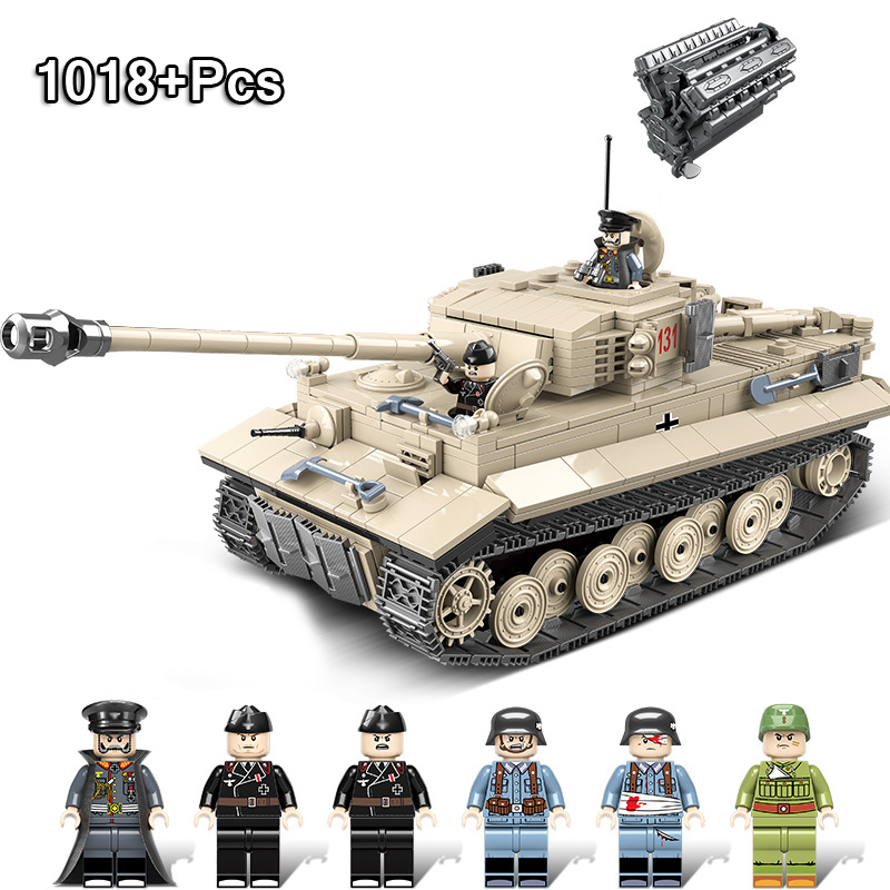 1018 pièces guerre mondiale seconde réservoir blindé Intelligence assemblage blocs de construction LegoING Technic tigre réservoir jouets pour enfants cadeau
