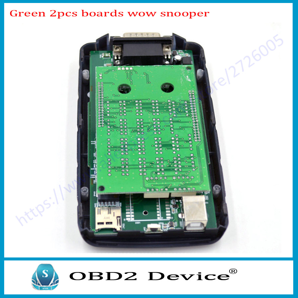 RoyalStar WOW SNOOPER Double Green PCB CDP TCS car Diagnostic for Chevrol-et/Cit-roen tool V5.00.8 WoW Snooper Scanner free ship
