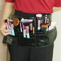 Multifunction Makeup Brush Bag PVC Apron Bag Professional Makeup Artist Belt Strap Protable Make Up Bag