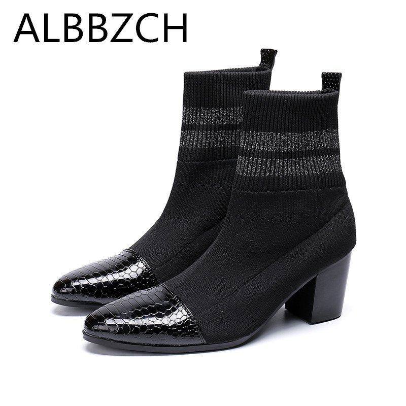 Spring Mens Chelsea Boots High Heel Men Man Shoes Fashion Trned Ankle Boots Black Luxury Designer Genuine Leather Casual ShoesSpring Mens Chelsea Boots High Heel Men Man Shoes Fashion Trned Ankle Boots Black Luxury Designer Genuine Leather Casual Shoes
