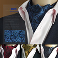 SHENNAIWEI Oro Paisley Floral de Seda Corbata Ascot Corbatas Jacquard Tejida Camisa Del Partido Del Vestido