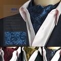 SHENNAIWEI Ouro Paisley Floral Lenço Gravata de Seda Tecido Jacquard Laços Festa Vestido de Camisa