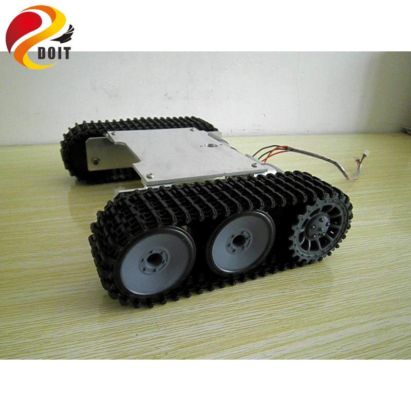 Original DOIT Tank Robot Car Chassis Kit /Caterpillar/DIY Robot Electronic Toy/Remote Control Tracked Smart Car Development Kit original doit silver c300 metal 4wd wheel car chassis development kit remote control diy rc toy smart robot car model