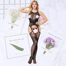 Bodysuit Lingerie Nightwear Sexy Cool Jumpsuits Lady Crotchless Fish Net Body Stocking