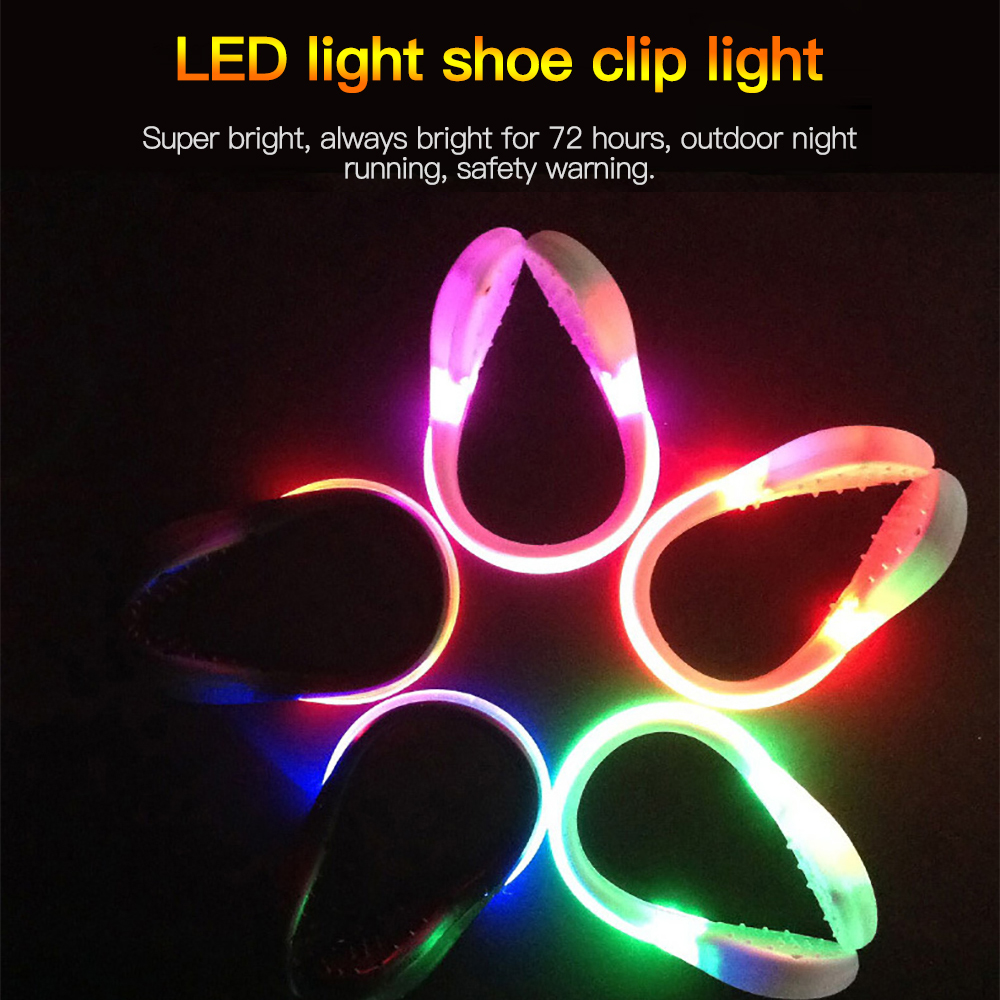 GLOW LED BRACELET BATTERY Light-up running cycling night Safety Party Halloween