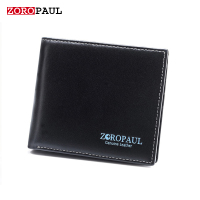 ZOROPAUL High Quality First Cow Leather Men S Balck Short Design Multifunctional Genuine Leather Purse Designer