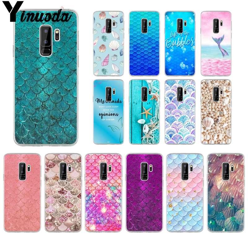 Yinuoda Shell Mermaid Tail TPU Transparent Phone Case Cover Shell for font b samsung b font