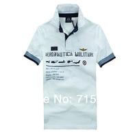 RETAIL AERONAUTICA MILITARE Men's Polos man Air Force One Embroidered man shirts Free Shipping