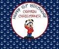 Пользовательские морской якорь Микки Маус День рождения капитан моряк детский душ Фон Компьютерная печать Вечеринка фоны
