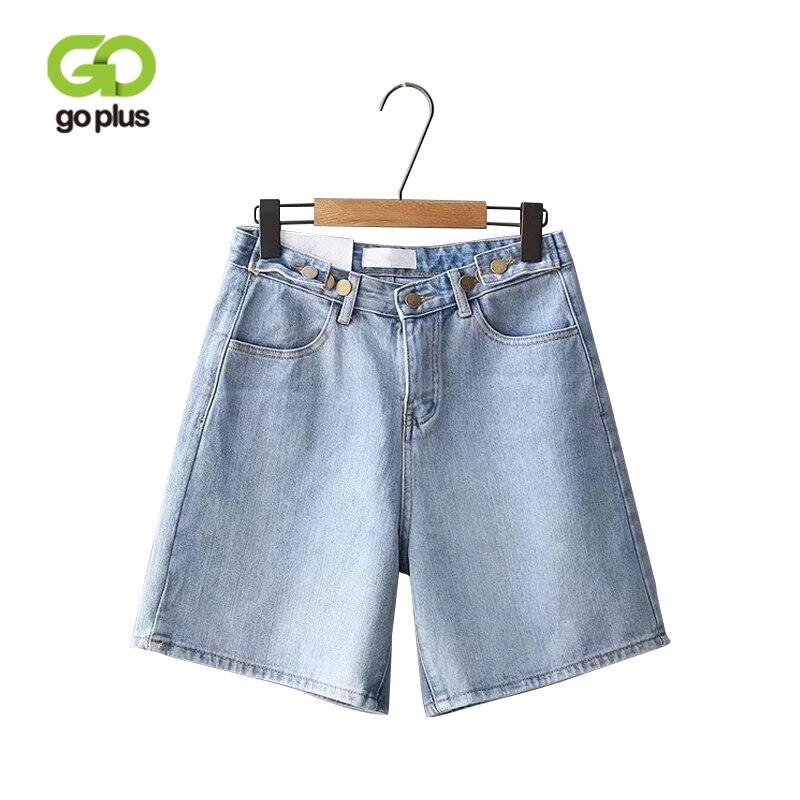 GOPLUS New Streetwear High Waist Denim   Shorts   Women Sexy Jean   Shorts   Wide Leg Cotton Plus Size Boyfriend Denim Female   Shorts