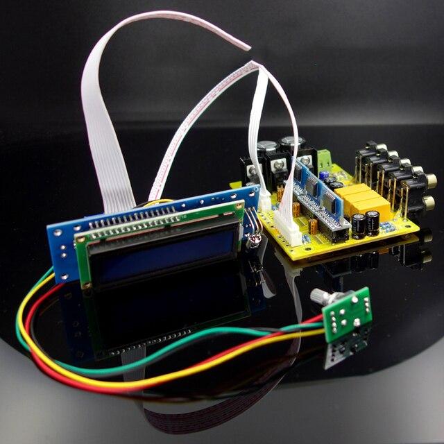 PGA2311X3 6チャンネルリモコンの音量リモコンプリアンプlcdディスプレイ5.1オーディオアンプNE5532オペアンプアンプ