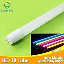 Tubo LED brillante de 360 grados, luz T8 AC220v, 110v, 60cm, 600mm, 10w, controlador integrado, bombilla fluorescente T8, blanco frío y cálido