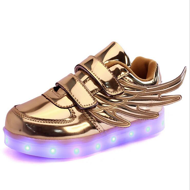 huge discount 09ebb f74b3 ... Balance 990v4 ( 2017 New usb charging glowing sneakers Kids Running led  wings kids lights up luminous shoes girls ...