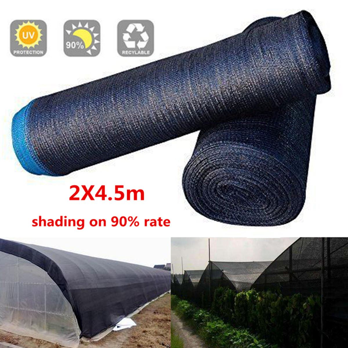 2x4.5M Mosquito Netting Bug Insect Bird Net Hunting Barrier Protect Planter Mesh Net Garden Orchard Pest Control Tools Supplies