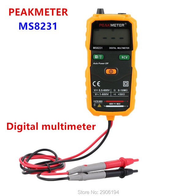 voltage indicator digital multimeter mini auto ms8231 multitester ac