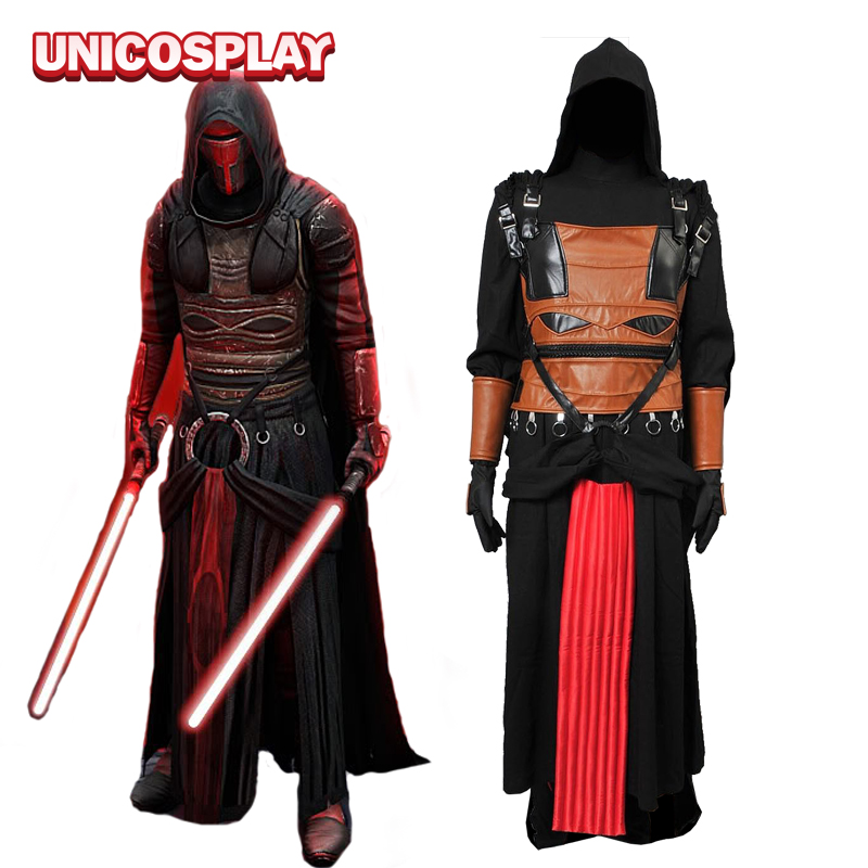 Star Wars Robe Darth Revan Jedi Cosplay Costume Black Cape Tunic Halloween Cloak hoodie Outfit for Man Adults Custom Made