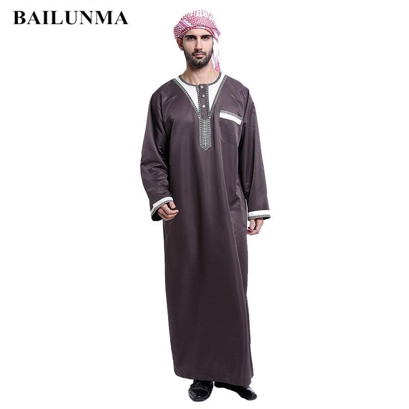 Arab clothing men Cotton thobe male islamic clothing for men muslim men caps Одежда