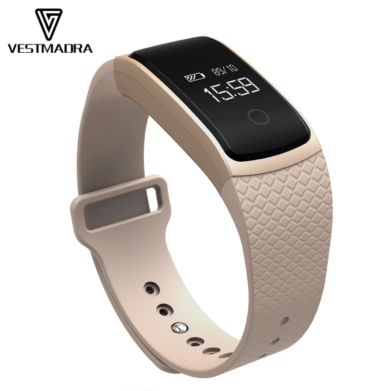 VESTMADRA Smart Band Heart Rate Blood Pressure Monitor Sport Smart Bracelet Call Reminder Anti lost Wristwatch