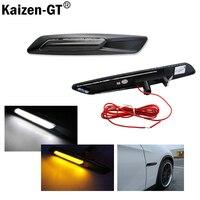 Style White Amber Switchback LED Light Black Finish Side Marker Lamps For BMW F10 E90 E92